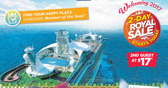 Second Guest Cruises For Just 17 With Royal Caribbean S 2 Day Promo From 10 11 Nov 2016