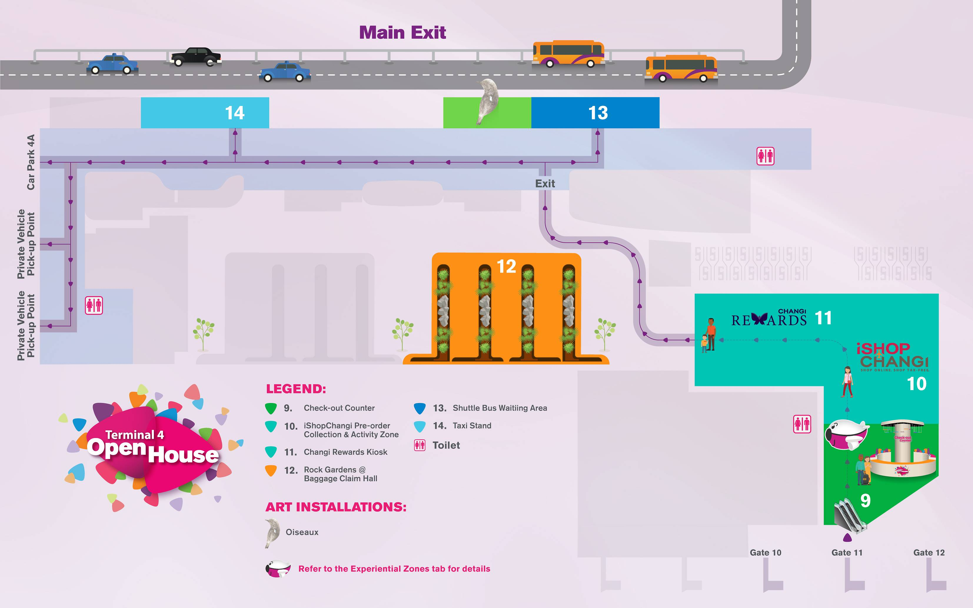 Changi Airport Terminal  Car Park Map